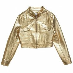METALLIC TREND 2014??? Young Versace Girls Metallic Gold Jacket (400+)
