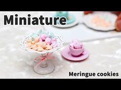 미니어쳐 머랭쿠키 만들기 Miniature Meringue cookies - YouTube