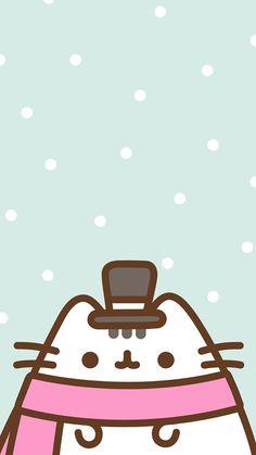 Iphone Wallpaper Cat, Kawaii Wallpaper, Wallpaper Backgrounds, Gato Pusheen, Pusheen Cute, Wallpapers Geek, Cute Cartoon Wallpapers, Pusheen Christmas, Christmas Cats