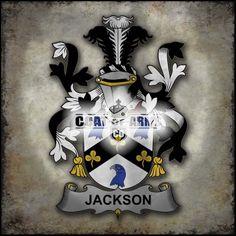 Jackson Family Crest - Fighting Irish Coat of Arms