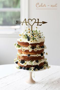 Vanilla Naked Layer Cake Naked Cake mit Wiesenblumen und Beeren Brombeeren, Heidelbeeren & Kamille – Cocktails and Pretty Drinks Food Cakes, Cupcake Cakes, Cupcake Recipes, Pretty Cakes, Beautiful Cakes, Amazing Cakes, Naked Cakes, Bolo Cake, Slow Cooker Desserts