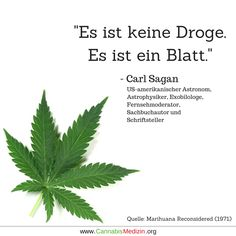 Kurz und Knapp! Carl Sagan Hanf Weed Cannabis Hemp