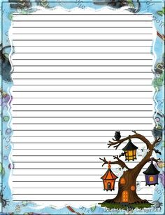 Made by Pecoranera Printable Lined Paper, Free Printable Stationery, Cute Journals, Paper Frames, Stationery Paper, Note Paper, Writing Paper, Book Of Shadows, Borders For Paper