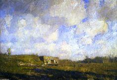 Limekiln Vieux, huile sur panneau de William Langson Lathrop (1859-1938, United States)