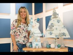 Model-Hada / Leti - Papá Noel Navideño - YouTube Pasta Flexible, Cold Porcelain, Diy And Crafts, Floral Tops, Crafty, Holiday Decor, Christmas, Tv, Design