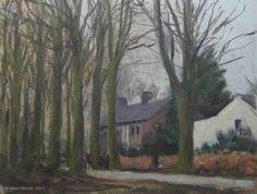 Rembrandtlaan. Doetinchem, Holland., painting by artist Rene PleinAir