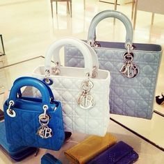 7ead3194d554 Dior Little Lady blue white grey handbag purse