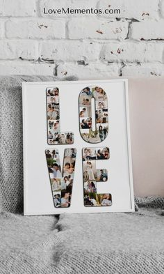 2 Years Anniversary Gift for Girlfriend, Anniversary Gift Ideas for Him & Her by Year, Photo Collage #giftforgirlfriend #giftsforboyfriend #anniversary