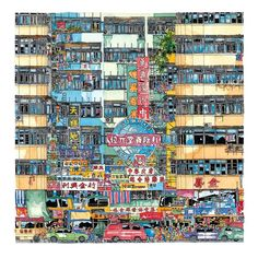 Illustration of Waterloo Rd, Yau Ma Tei, Hong Kong. By Iain Anderson Scott, architect from Australia. This is where I spent my childhood :) Sourced from: Hong Kong Illustration Story, Pattern Illustration, Hong Kong Art, Building Drawing, Urban Sketching, Chinese Culture, Watercolor Print, City Photo, Sketches