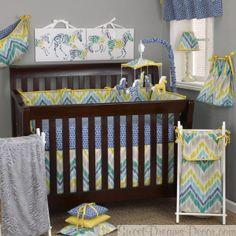 Zebra Romp Neutral Baby Crib Bedding (Coming December, 2013)