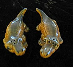Vintage Alligator shaker set for sale at More Than McCoy at http://www.morethanmccoy.com