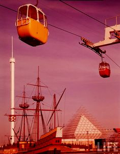 Orange, Purple, Red, Putty and Sand Expo Through Rose-Colored Glasses Expo 67 Montreal, Montreal Ville, Lounge, Canada, World's Fair, Urban Landscape, Amusement Park, Past, Backdrops