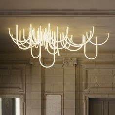 'Les Cordes' amazing and monumental chandelier by French designer Matthieu Lehanneur at Palais Borély in Marseille, France.