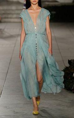 Dotted Midi Dress by Carolina Herrera