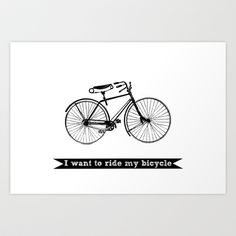 bicycle Art Print by Beverly LeFevre - $18.00