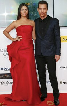 Matthew McConaughey and his wife Camila Alves looked picture perfect on the red carpet - Germany's Goldene Kamera Awards