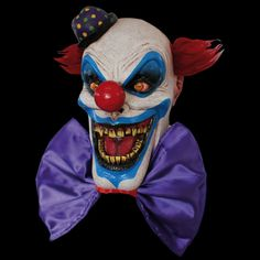 Chompo the Clown Latex  Mask Killer Clown Evil Adult Size Ghoulish Productions