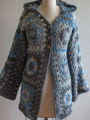 Granny Square Chic Hoodie: free pattern