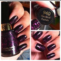Revlon nail polish. I love purple glitter!