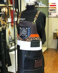 Made for Bad Birdy, this apron combines a mix of high contrast colours and textures with the functionality and style of premium leather. Custom Aprons, High Contrast, Bartender, Fashion Backpack, Messenger Bag, Colours, Leather, Style, Personalized Aprons