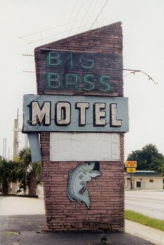 Big Bass Motel on Highway 27 in central Florida circa Fishing Photos, Fishing Stuff, Fishing Photography, Quotes About Photography, Central Florida, Writing Inspiration, Motel, Bird Houses, Bass