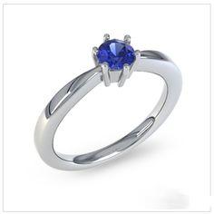 Bague de fiançailles avec saphir bleu - http://www.21diamonds.fr/Online/Bagues-en-argent/Andree/Saphir-bleu/Argent-sterling-925.html