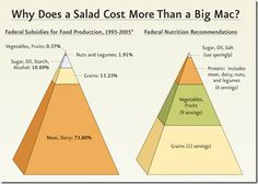 Why does a salad cost more than a Big Mac? [Infographic] - Federal food subsidies
