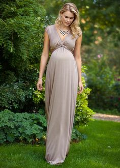 Clara Gown Long (Mocha) by Tiffany Rose