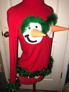 Items similar to tacky Nauthy funny CUSTOM MADE by order ugly Christmas sweater AnY SiZe, Funny ugly sweater, Naughty ugly sweater on Etsy Homemade Ugly Christmas Sweater, Ugly Christmas Sweater Women, Christmas Jumpers, Christmas Sweaters, Grinch Christmas Decorations, Christmas Crafts, Etsy Christmas, Christmas Outfits, Funny Christmas