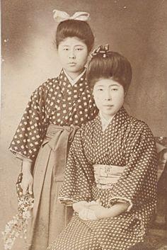 Portrait of two Japanese women, ca. 1910.