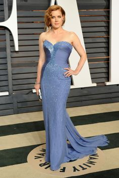 Wearing Atelier Versace at the Vanity Fair Oscar Party.