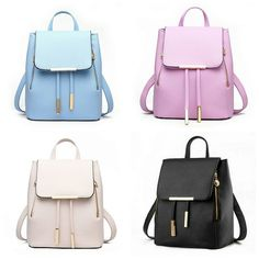 colors) Solid Color PU Leather Zipper School Backpack sold by Make More Famous. Shop more products from Make More Famous on Storenvy, the home of independent small businesses all over the world. Women's Mini Backpack, Small Backpack, Leather Backpack, Pu Leather, Cute Mini Backpacks, Stylish Backpacks, Toddler Diaper Bag, Fashion Bags, Fashion Backpack