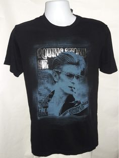 6445c4046ca David Bowie T-shirt ADULT Medium - Rolling Stones Black  18.99 (see profile  to