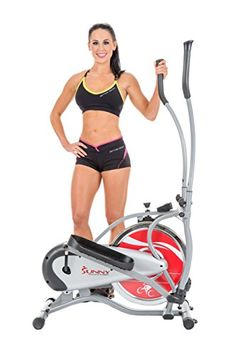 Sunny Health  Fitness SFE1405 Flywheel Elliptical Trainer Gray * Want additional info? Click on the image. (Note:Amazon affiliate link)