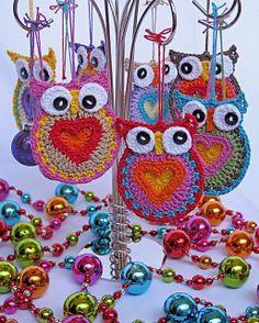 crochet christmas ornaments <3