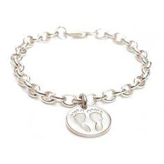 Square FingerPrint Charm Belcher Chain Bracelet - A lovely memento of the birth of a child, a christening, a special birthday or as a way to keep a child no longer in your arms close to your heart. Whatever the reason, you are sure to treasure those innocent little hand or footprints forever.
