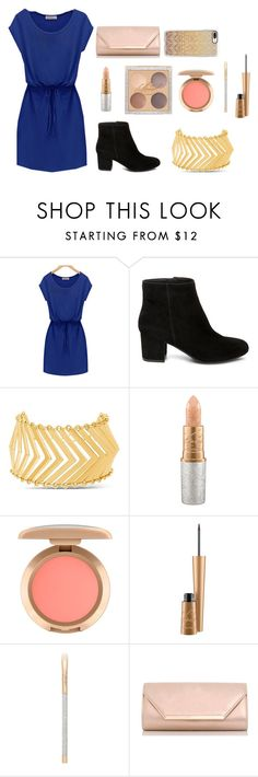 """""""blue dress"""" by naddy-blanc on Polyvore featuring Steve Madden, Mariah Carey, MAC Cosmetics, Dorothy Perkins and Casetify"""