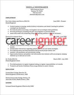 Tracie Perry dental hygiene resume template... | Dental Hygiene ...