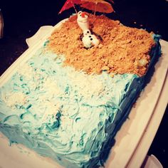 Olaf Cake!