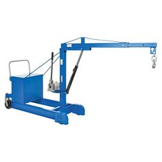 This Counter Balanced Floor Crane has an adjustable boom to allow for maximum adjustment and versatility to lift a variety of loads. Boom is raised with a manual hydraulic hand pump. Gantry Crane, Industrial Storage, Truck Bed, Working Area, Counter, Flooring, Pump, Manual, Yard