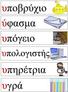 Greek Sayings, Greek Quotes, Greek Language, Second Language, Greek Alphabet, Ancient Greek, Primary School, Special Education, Teacher