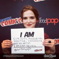 Who is Zoey Deutch? Zoey posed for #AntiBullyingCoalition at New York Comic Con!