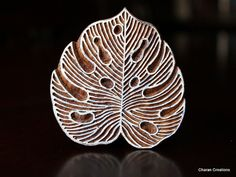 Hand Carved Indian Wood Textile Stamp Block by charancreations, $19.00