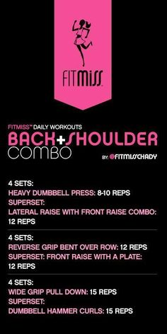 FitMiss Back  Shoulder Workout
