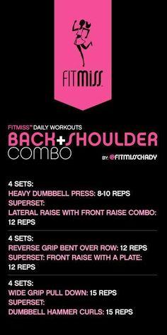 FitMiss Back & Shoulder Workout