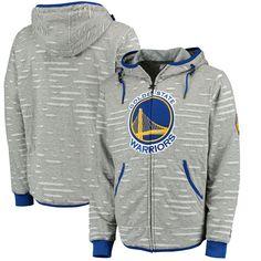 Golden State Warriors Zipway Ripped and Repaired Full-Zip Hoodie - Gray - $67.99