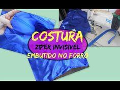 Costurar Ziper Invisível Embutindo no Forro