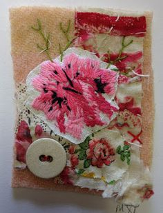 Mandy Pattullo: card collage: Thread and Thrift