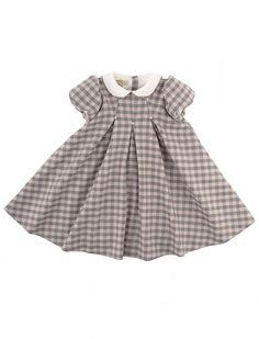 Classic checked Italian handmade babydress