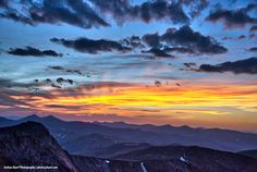 Sunset from the summit of Mt. Colorado Rockies, Colorado Mountains, Rocky Mountains, Mountain S, Fine Art Photography, Trips, Urban, Sunset, Viajes